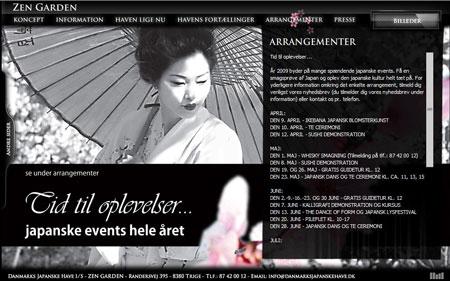 Danmarks Japanske Have website