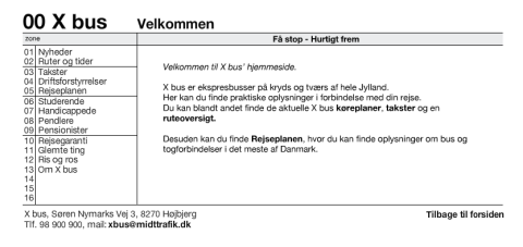 Xbus.dk valg til forsideinformation